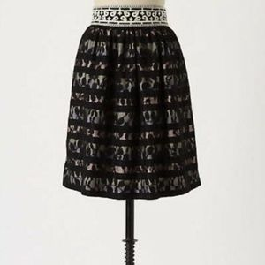 Anthropologie Floreat Charente Lace Overlay Skirt